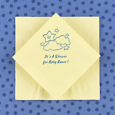 personalized baby shower napkins baby shower decorations